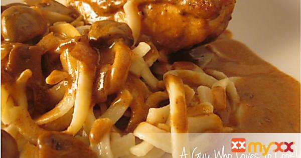 Braised Chicken Paprikash