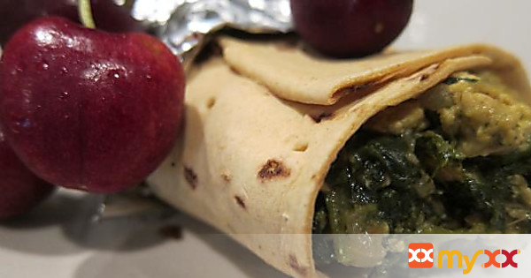 A Fresh Start with Tofu Spinach Wrap