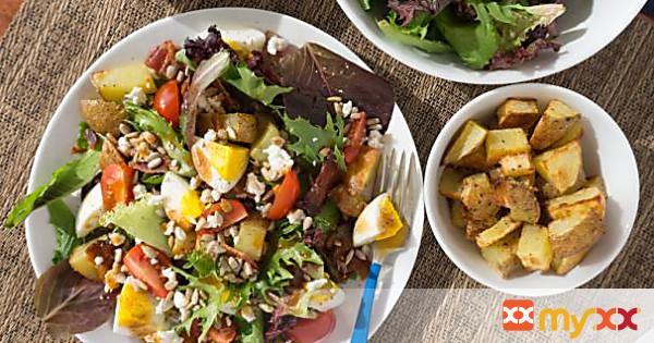 Breakfast Salad with Eggs + Potatoes