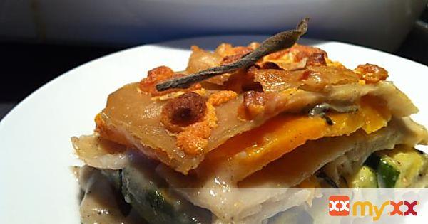 Butternut Squash and Zucchini Lasagna-Gluten free, Vegan
