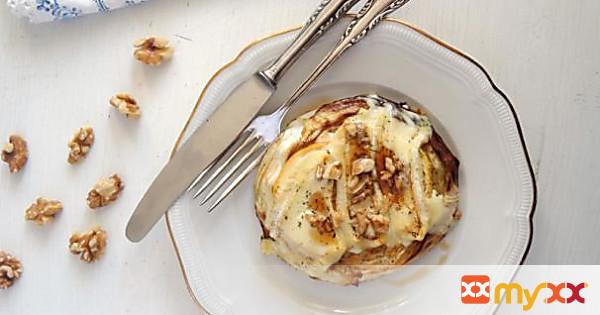 Camembert Cabbage Slices au Gratin