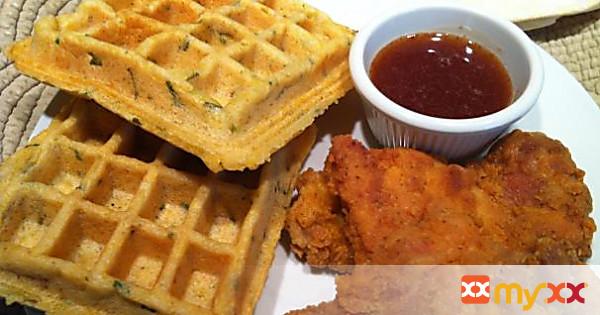 Chicken & Cornbread Waffles - gluten free, dairy free