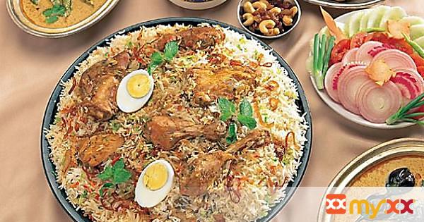 Chicken Biryani with Hard Boiled Eggs