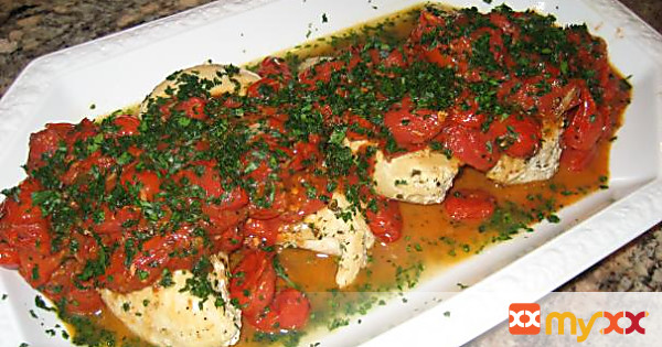 Pan Seared Chicken with Grape Tomatoes