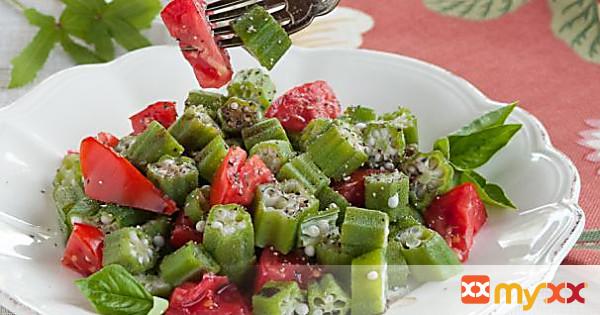 Okra Tomato Salad