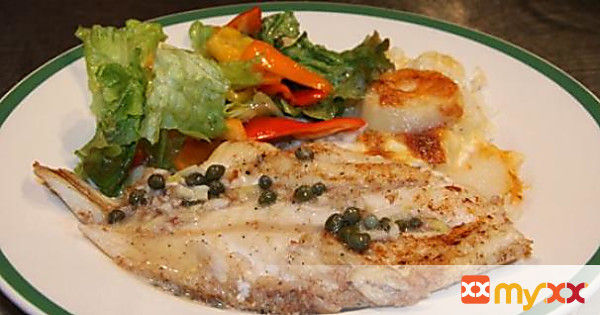 Orange Roughy with Capers, Garlic and Vermouth