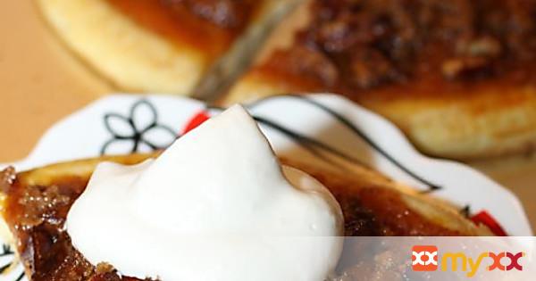 Pecan Pumpkin Pie Dessert Pizza with Maple Whipped Cream