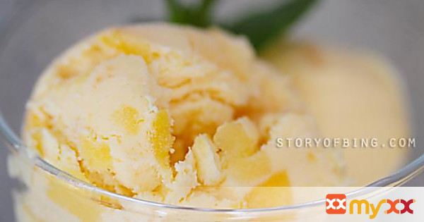 No Churn Mango Ice Cream