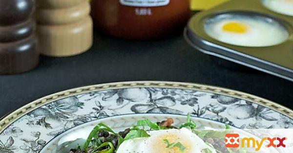 Poached Eggs & Lentil Hash