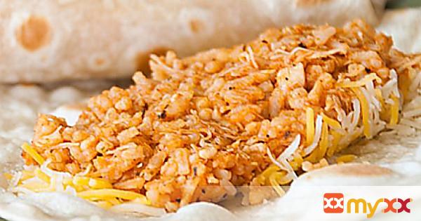 Quick Chicken and Rice Burritos
