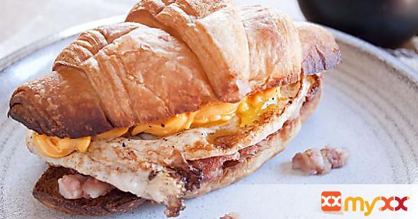 Redneck Breakfast on a Croissant