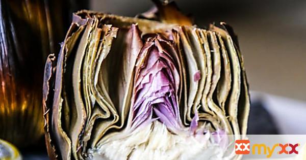 Roasted Artichoke Stuffed with Garlic and Sage