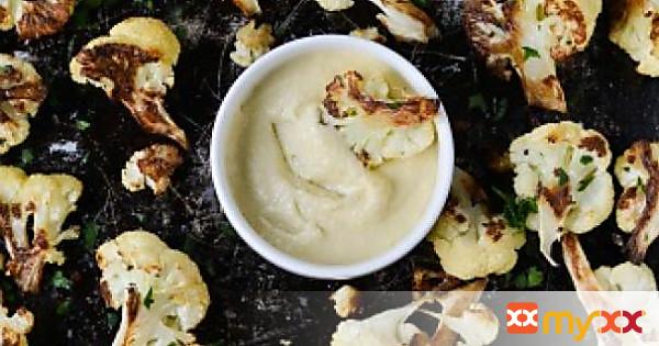 Roasted Cauliflower with Tahini Sauce