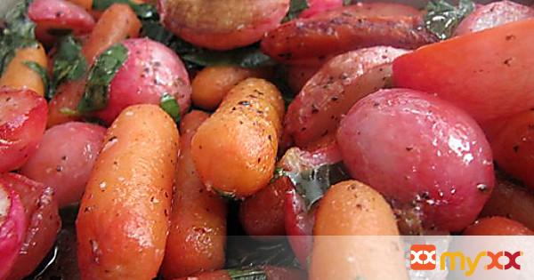 Roasted Radish and Carrot Medley