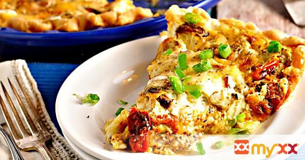 Roasted Tomato and Garlic Quiche