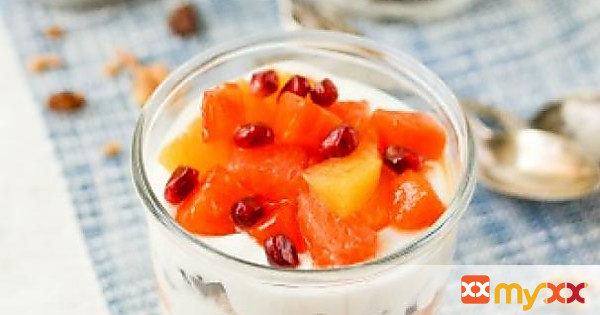 Winter Fruit, Yogurt & Farro Parfaits