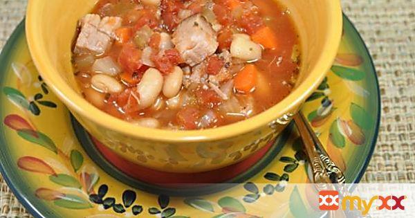 Tuscan Pork and Bean Soup