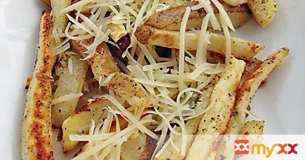 Sweet and Russet Potato Garlic Fries