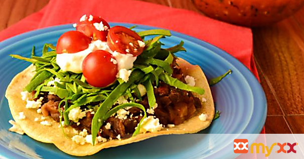 Vegetarian Tostadas With Spicy Black Beans (+gluten free)