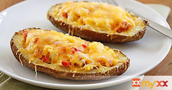 Western Omelette Breakfast Potato Skins