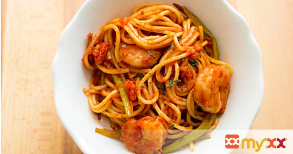 Barilla Spaghetti with Fennel and Shrimp