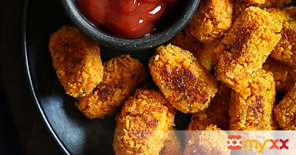"""Sweet Potato and Carrot """"Tots"""""""