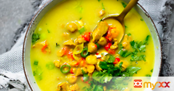 Golden Turmeric Chickpea Chicken Soup