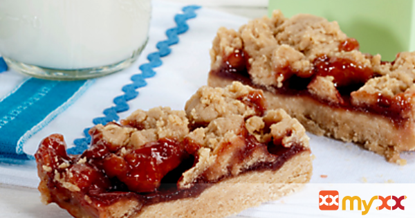 Microwave Peanut Butter and Jam Bars