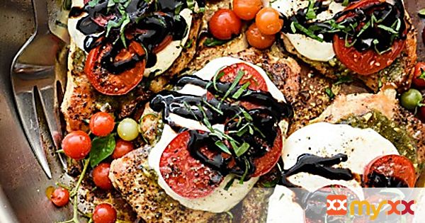 Caprese Chicken with Pesto