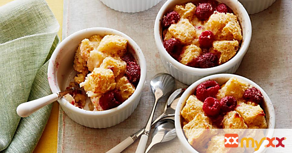 Raspberry-Lemon Bread Pudding