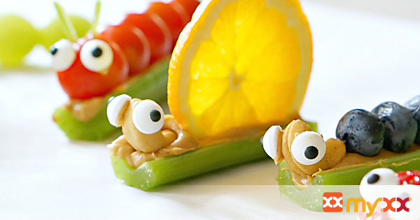 Fruit and Veggie Snack Bugs
