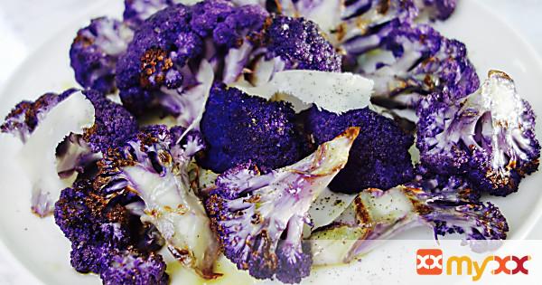 Grilled Purple Cauliflower