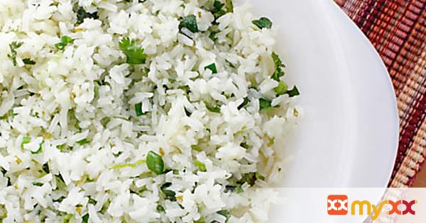 Scallion Cilantro Rice with Habaneros and Lime