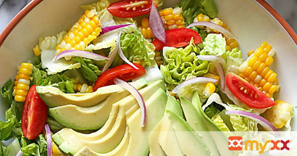 Summer Corn, Tomato and Avocado Salad with Creamy Buttermilk-Dijon Dressing
