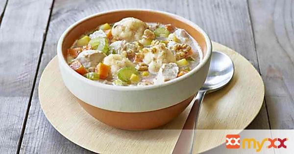 Chicken and Walnut Dumpling Soup
