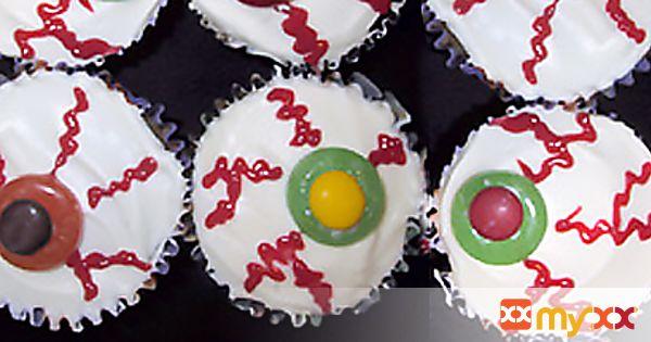 Brown Sugar Applesauce Eyeball Cupcakes