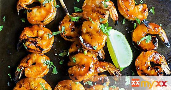 Honey Sriracha Grilled Shrimp