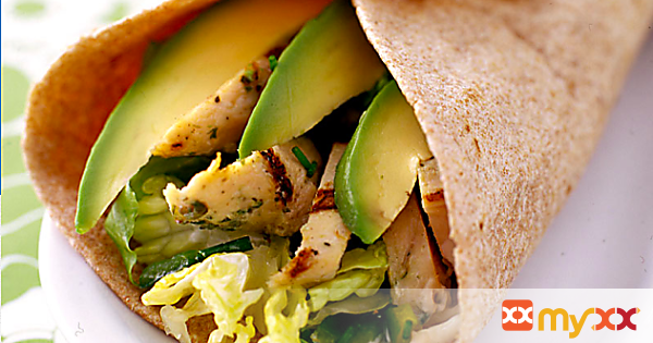 Weight Watchers Chicken and Chile Wraps
