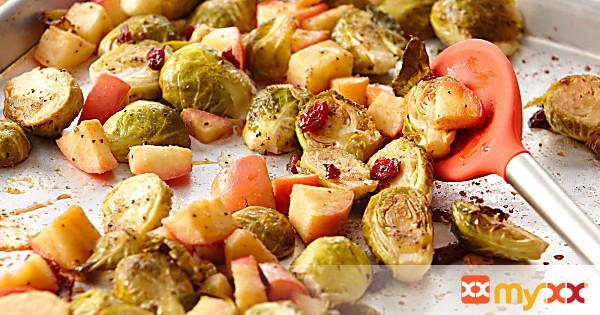 Roasted Brussel Sprouts and Apples