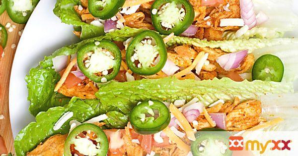 Buffalo Chicken Lettuce Tacos