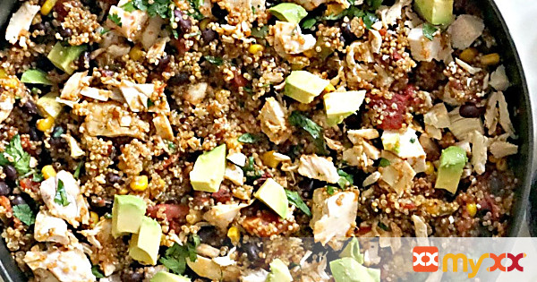 One Pan Mexican Quinoa and Chicken
