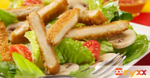 Chik Patties® Salad with Honey Sesame Vinaigrette Dressing Recipe