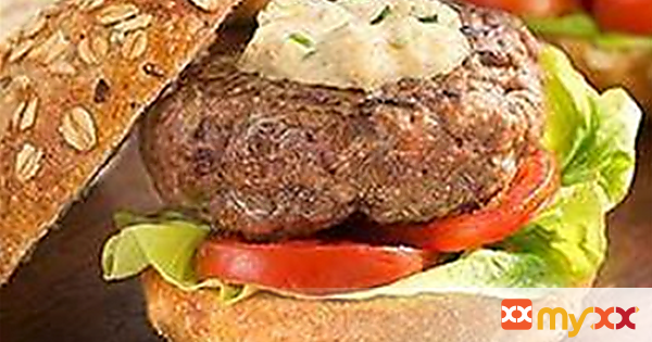 Horseradish Blue Cheese Burger