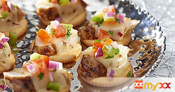 Ritz Chicken Salsa Toppers