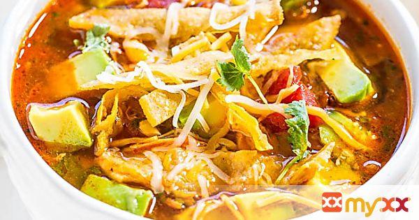 Easy Homemade Chicken Tortilla Soup -30 minutes