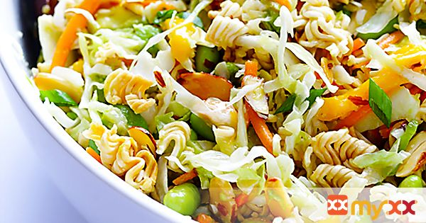 Asian Inspired Ramen Noodle Salad