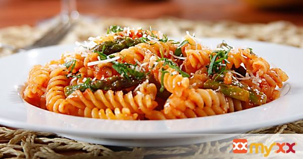 Barilla Spicy Rotini with Asparagus