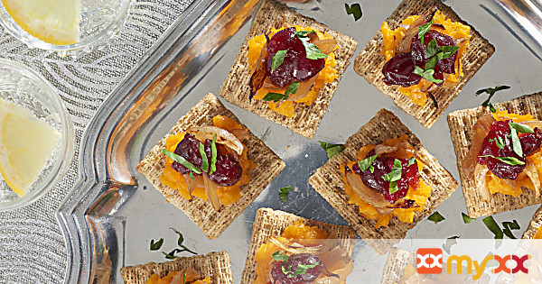 Butternut Squash, Caramelized Onion & Cranberry Toppers
