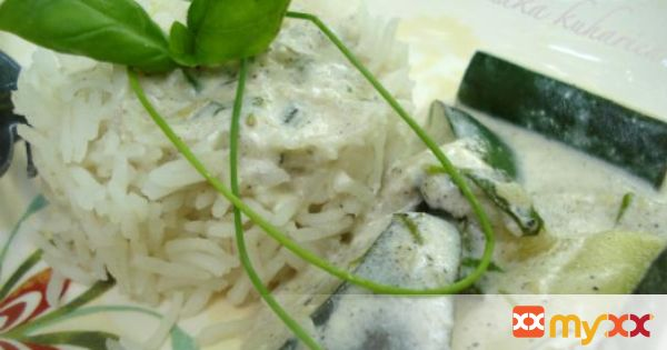 Basmati rice with zucchini