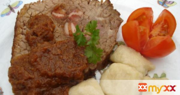 Beef pastissada with gnocchi